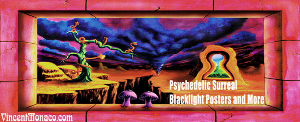 vincent monaco trippy blacklight tapesty tapestries posters